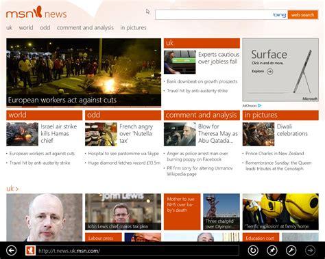 MSN News on Windows 8 Pro   Pat Walsh IT Services