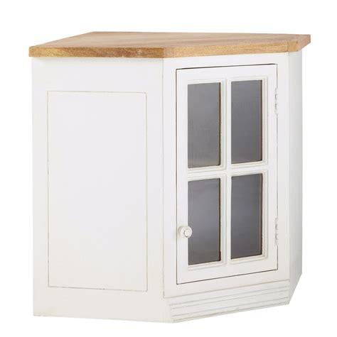 Mueble alto de cocina esquinero acristalado de madera de ...
