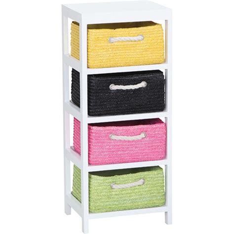 Mueble Cajones Mimbre Colores   INALSA   86590   31X24,5X73
