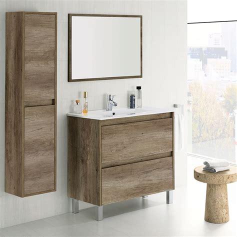 Mueble de baño barato con espejo y lavabo más Columna ...