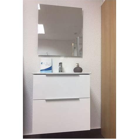Mueble de Baño barato suspendido modelo Italia de color blanco