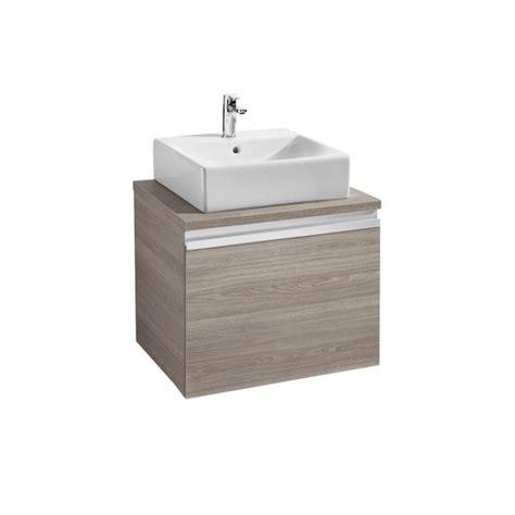 Mueble de baño base para lavabo sobre encimera Roca Heima ...