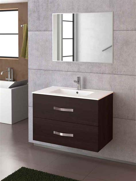 Mueble de baño Deva 80 en color wengué de Torvisco