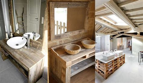Mueble de baño fabricado con palets, fotos, ideas