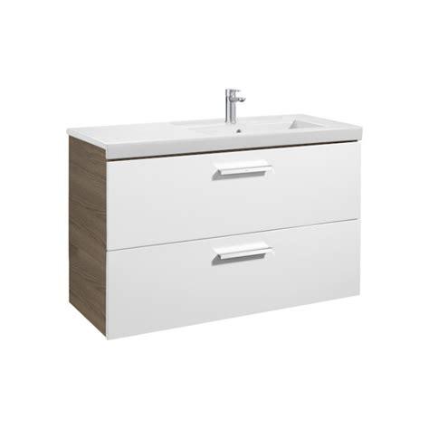 Mueble de baño + Lavabo derecho Roca Prisma 2 Cajones ...