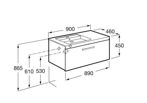 Mueble de baño + Lavabo izquierdo Roca Prisma 1 Cajón 90cm ...