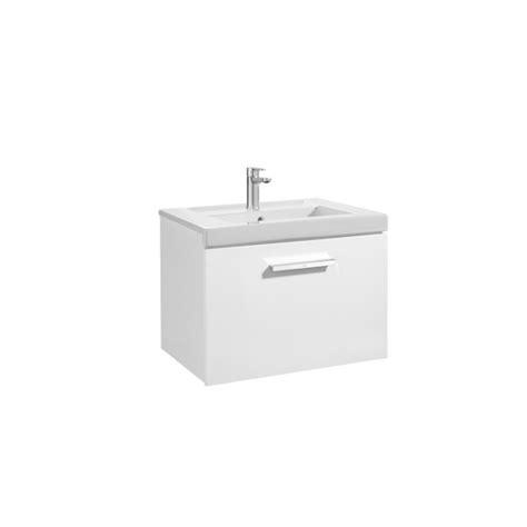 Mueble de baño + Lavabo Roca Prisma 1 Cajón 60cm Blanco brillo