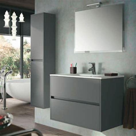 Mueble de baño NOJA 80 Acacia marrón lavabo cerámico salgar