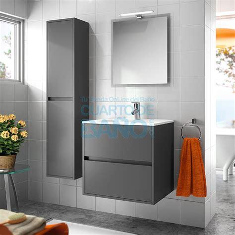 Mueble de baño NOJA Salgar 60 cm gris mate con LAVABO ...