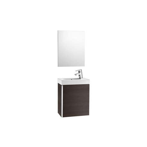 Mueble de baño Roca Mini lavabo y espejo 45x25