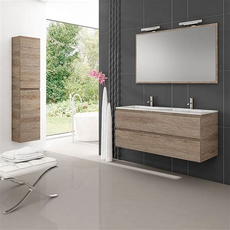 Mueble de lavabo Módena  45 x 120 x 50 cm, Nebraska gris ...
