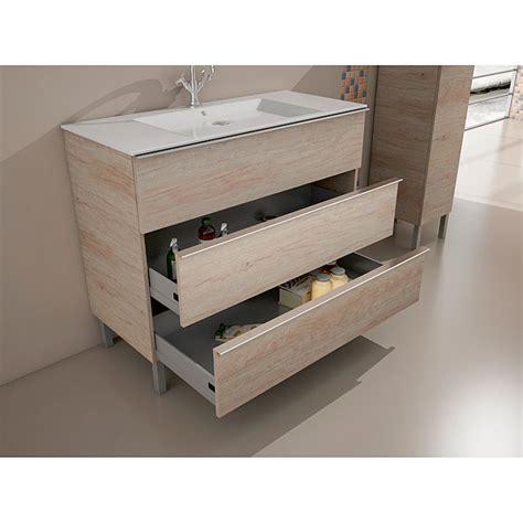 Mueble de lavabo Roma Nebraska gris  46 x 100 x 85 cm ...