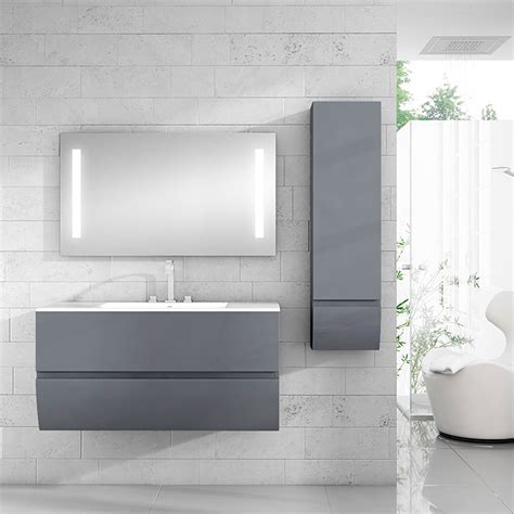 Mueble de lavabo Tina  45 cm x 80 cm x 50 mm, Grafito ...