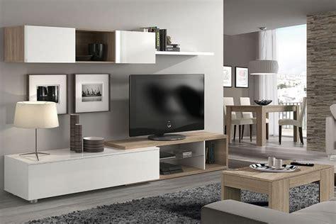 Mueble de salón – comedor NAIA en color blanco y Roble ...