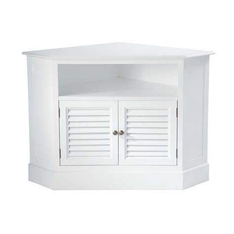 Mueble de TV blanco esquinero de madera de An. 75 cm ...