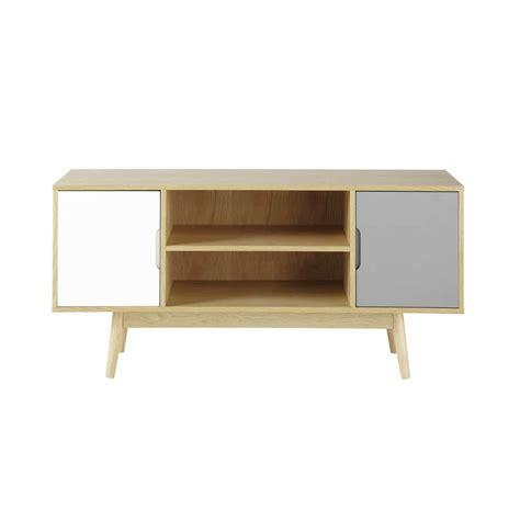 Mueble de TV vintage de madera An. 120 cm Fjord | Maisons ...