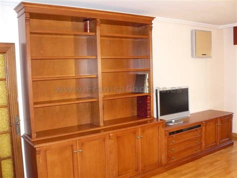 Mueble librería salón de madera a la medida – FRANISA Cocinas