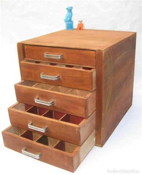 mueble madera 4 cajones cajonera antiguo oficio - Comprar ...