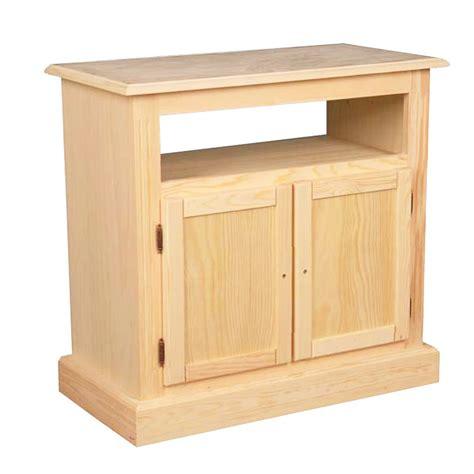 Mueble para TV con 2 puertas en madera de pino macizo