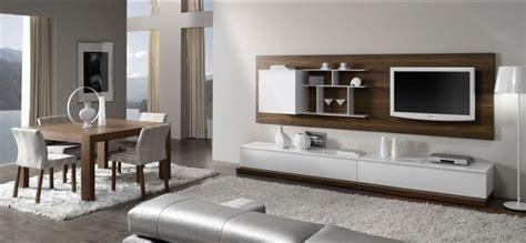 mueble-salón-blanco-nogal | cosas piso nuevo en 2019 ...