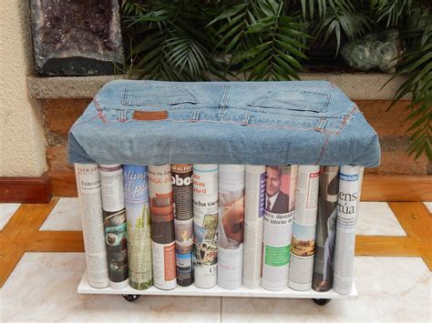 Mueble Sillon Vintage Mezclilla Revistas Barato - $ 880.00 ...