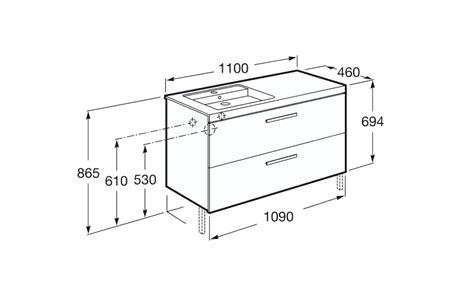 Mueble y lavabo Unik Prisma 2 cajones Roca | Baño Decoración
