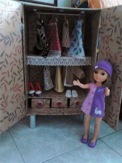 Muebles de cartón para casas de muñecas: armario ropero ...