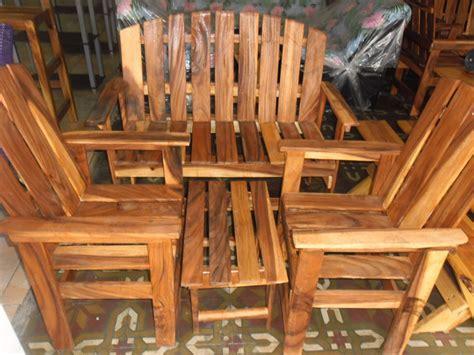 Muebles De Madera Rústicos Porche 4 Piezas - Bs. 160.000 ...