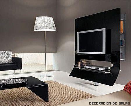 Muebles modernos para colocar la tele
