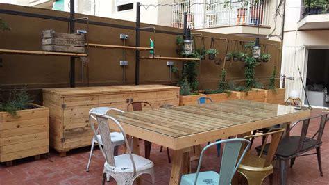 Muebles para Terrazas de Palets y Madera de Pino natural ...