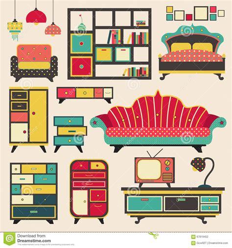 Muebles Retros Viejos Del Dispositivo De La Casa Y ...