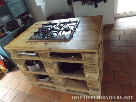 Mueblesdepalets.net: Encimera de cocina con fogones hecha ...