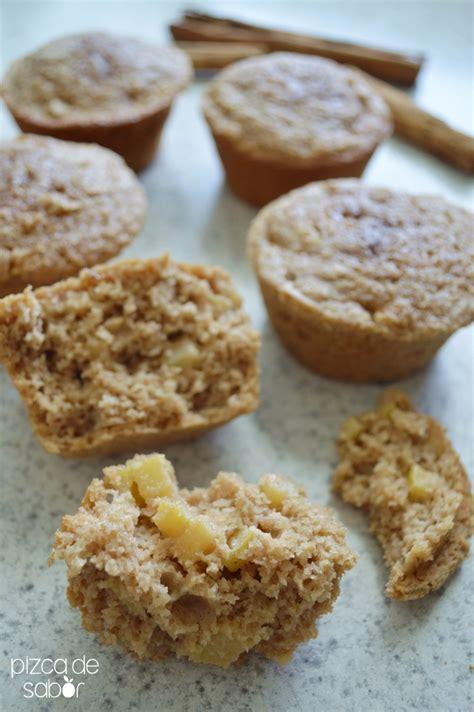 Muffins de manzana, canela y avena  sin trigo     Pizca de ...