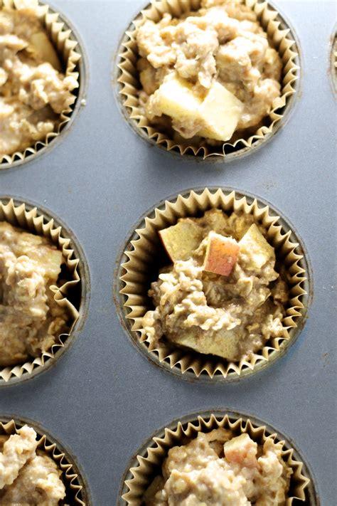 Muffins de manzana y avena: perfecto desayuno para el camino
