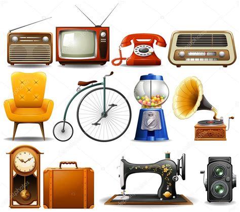 Muitos tipo de objetos vintage — Vetores de Stock ...