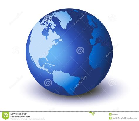 Mundo Azul Isolado Imagens de Stock Royalty Free - Imagem ...