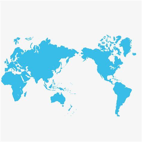 Mundo Azul Mapa Vectorial, Mapa De Mundo Azul, Mapa Del ...