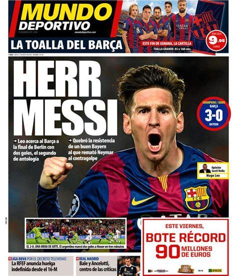 Mundo Deportivo on Twitter:  Herr Messi #portada #deportes ...
