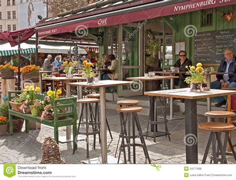 Munich, Viktualien Markt, Open Air Cafe Editorial Stock ...