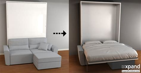 Murphy Bed Sofa Combo Transformable Murphy Bed Over Sofa ...
