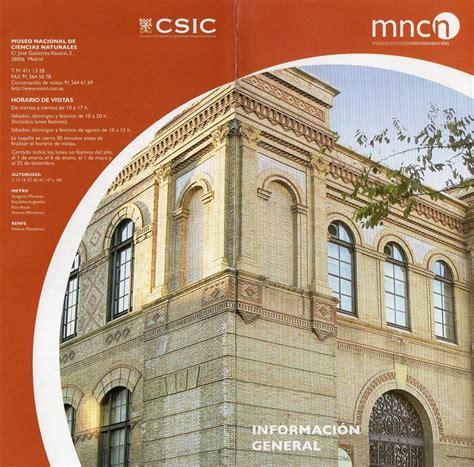 Museo Nacional de Ciencias Naturales  Madrid  – SITIOS ...