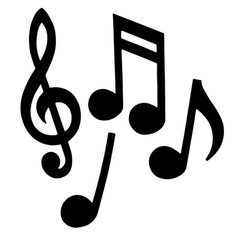 Music clipart silhouette   Pencil and in color music ...