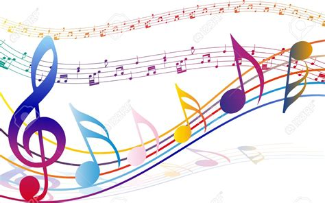 Music Notes clipart colorful music staff   Pencil and in ...