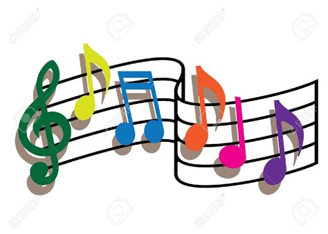 Music Notes clipart colourful   Pencil and in color music ...