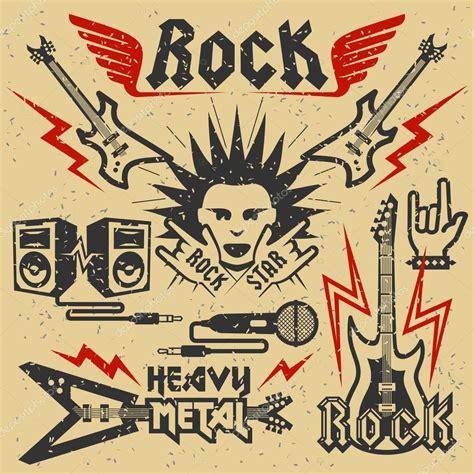 Música rock y heavy metal — Vector de stock © greyj #67127213