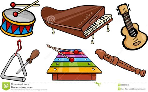 Musical clipart musical instrument - Pencil and in color ...