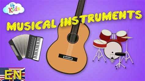 Musical Instruments by Names and Sounds Learning Video for ...