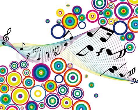 Musiknoten Sachen Vektor Hintergrund für den Einsatz in ...