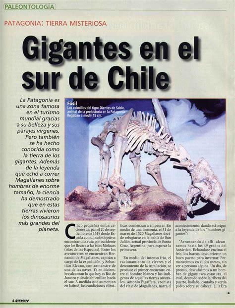 muy interesante reportaje gigantes patagonia | Evelyn Pfeiffer
