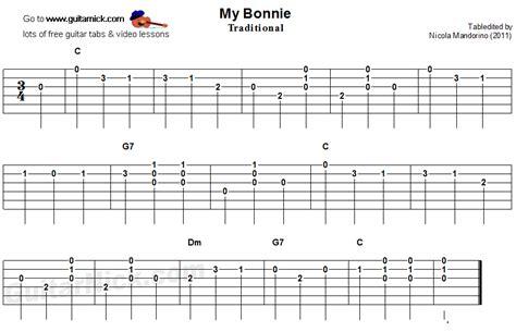 MY BONNIE Easy Guitar Tab: GuitarNick.com